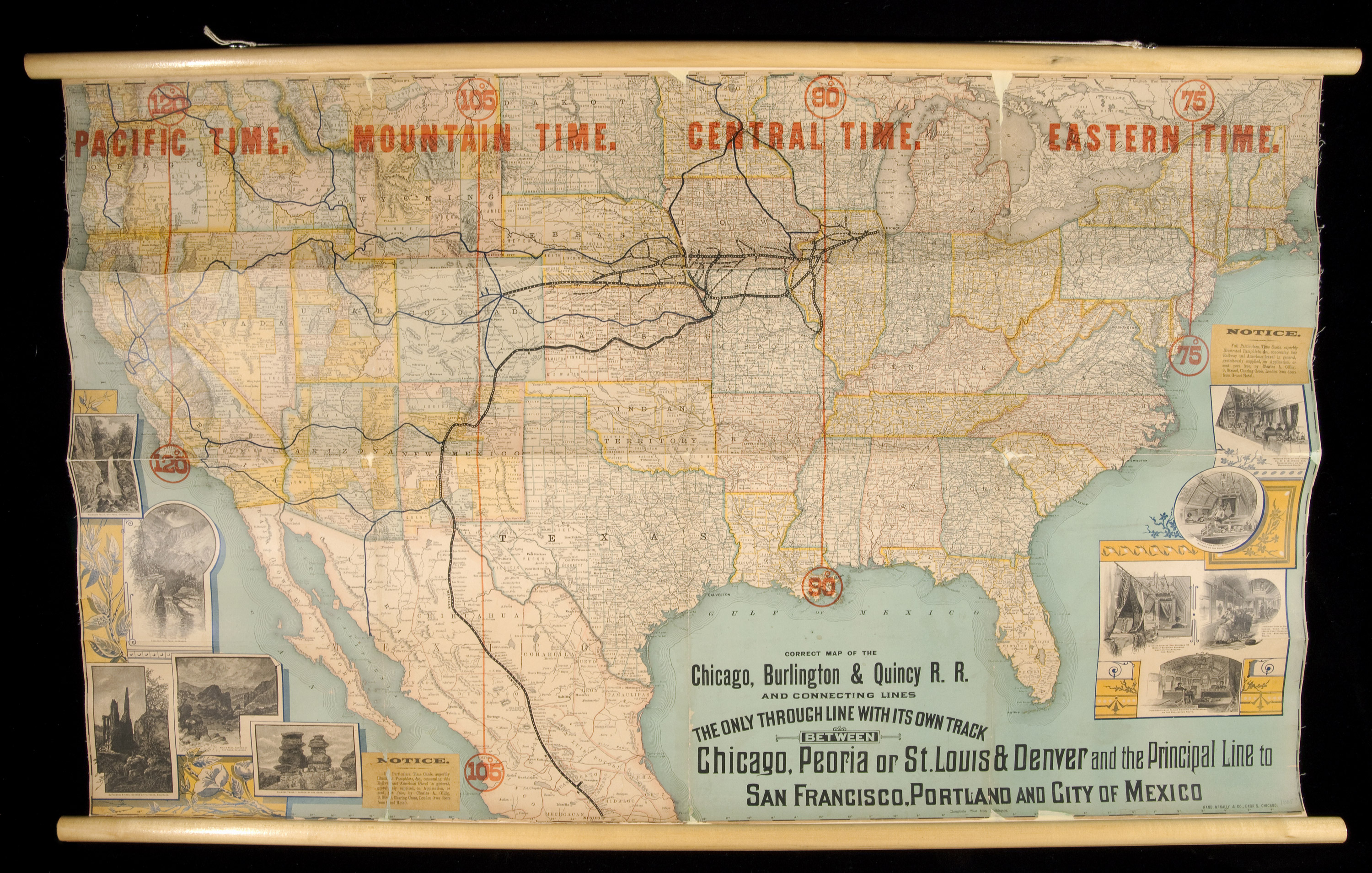 Adoption Of Railroad Time Environment  Society Portal - Chicago map time zone