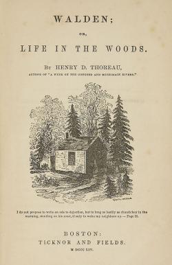 thoreau henry david walden or life in the woods. Black Bedroom Furniture Sets. Home Design Ideas