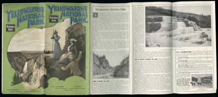 Cover of Burlington Route -- Yellowstone National Park, 1898. CB&Q, Brochures