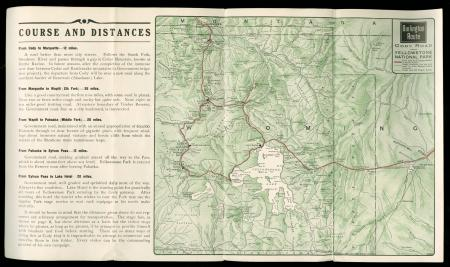 Map of the Burlington Route --- The Cody Road into Yellowstone Park