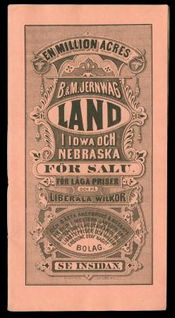 "CBQ brochure ""En Million Acres Nebraska Land"" (Swedish)"