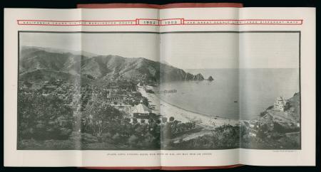 Brochure image of coastal line of Santa Catalina Island