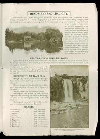 "CB&Q Brochures ""Summer Resorts of the Black Hills"" (1899)"