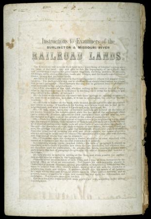 Instruction Manual to Examiners of Burlington & Missouri River Railroad Lands