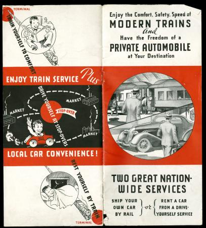 CBQ Booklet on Renting Automobiles, Shipping by Rail.