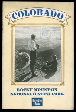 Brochure cover Colorado, Rocky Mountain National (Estes) Park.