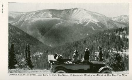 Photo of car at Berthoud Pass in Rocky Mountain National (Estes) Park