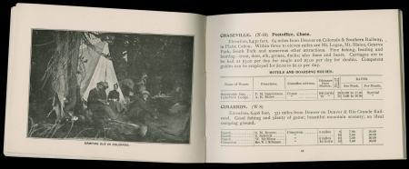"""""""Camping Out in Colorado"""" advertisement in Handbook of Colorado (1897)"""