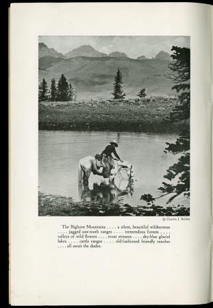 "Brochure ""Dude ranches in Big Horn Mountains,"" 1930"