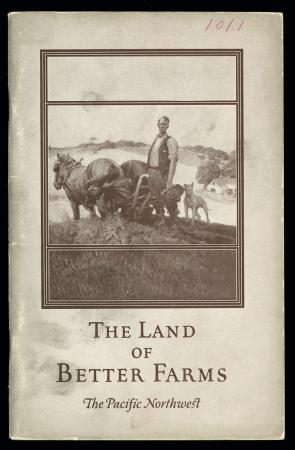 "CB&Q Brochure cover ""The Land of Better Farms"" (1923)"