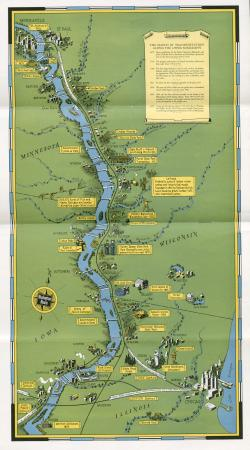 Map of Mississippi River Scenic Line (1937)