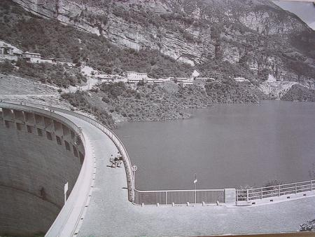 The Vajont Dam before the disaster (before 1963)