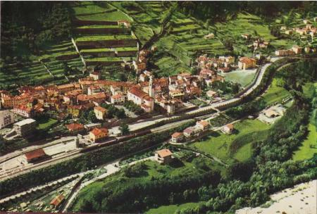 The town of Longarone, Italy, before the landslide, 1963.