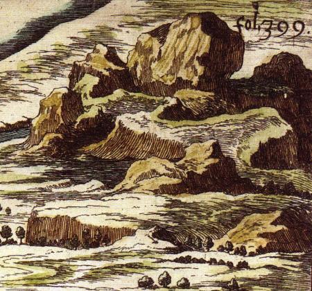 """Detail of the """"Carte du Tendre,"""" 1654"""