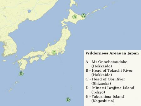 Wilderness Areas in Japan