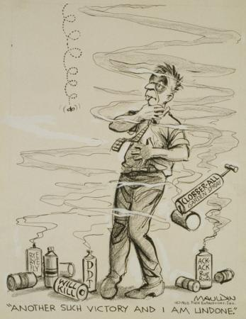 Cartoon of artist Bill Mauldin.