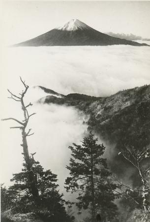 Mount Fuji as seen in the 1950s.