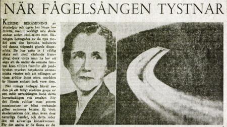 "Swedish headline: ""When the Birdsong Falls Silent"""