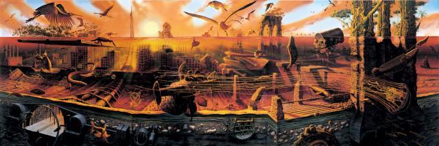 """Alexis Rockman painting """"Manifest Destiny"""""""