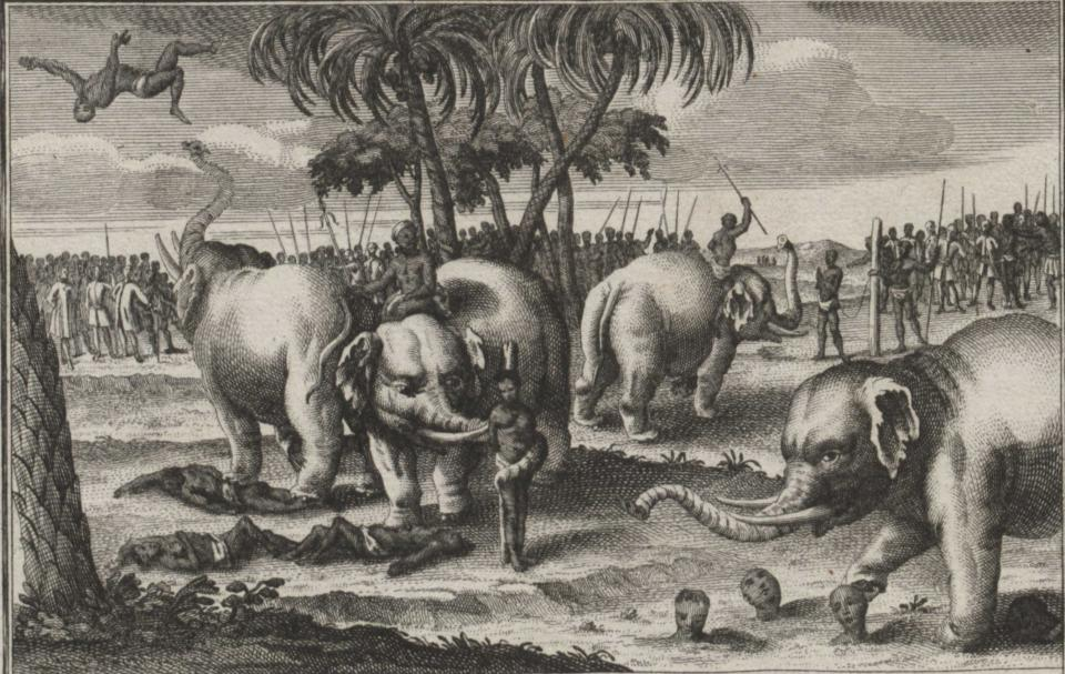 """Graphic Story of Elephants According to Their Accomplishments,"" 1746"