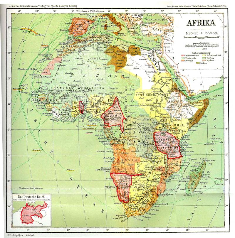 Southwest Africa Map.Naturalizing Trout Fish Farming In German Southwest Africa