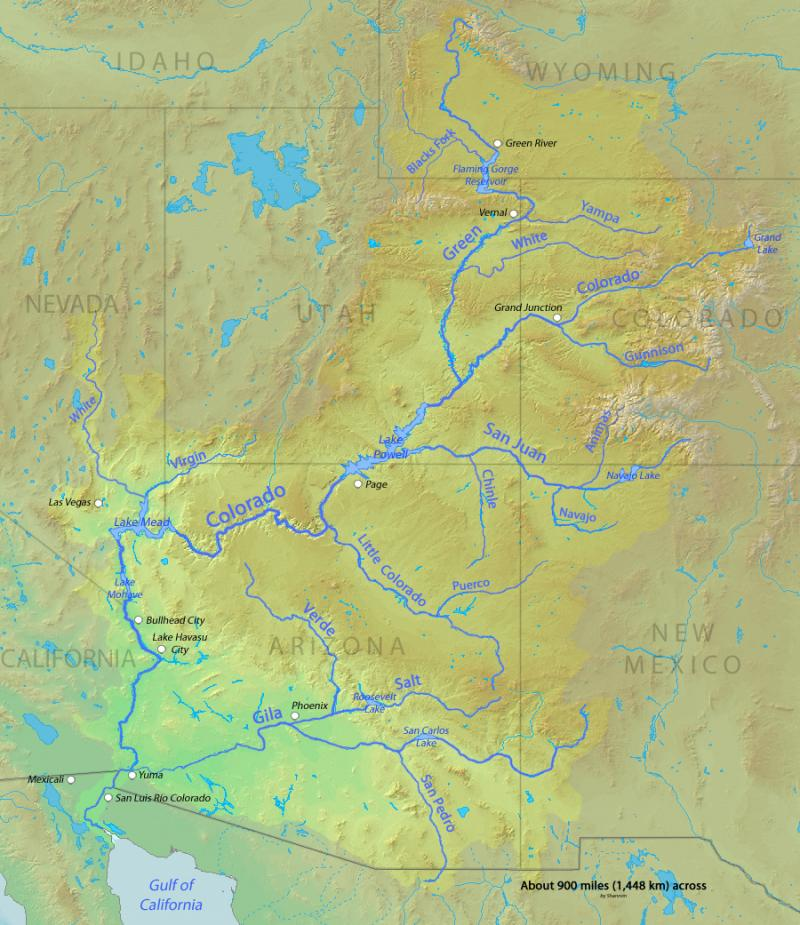 Citizens Of A Watershed The Colorado River Compact And The - Colorado river map world atlas