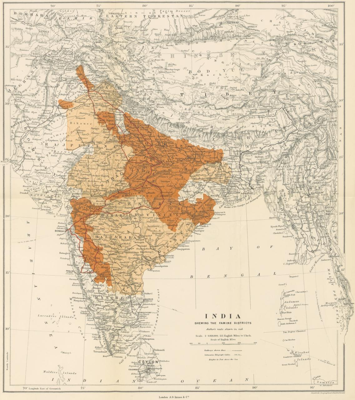 Famines In India Timeline Environment Society Portal - Map of united provinces india