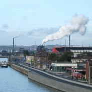 Industries along River Meuse.