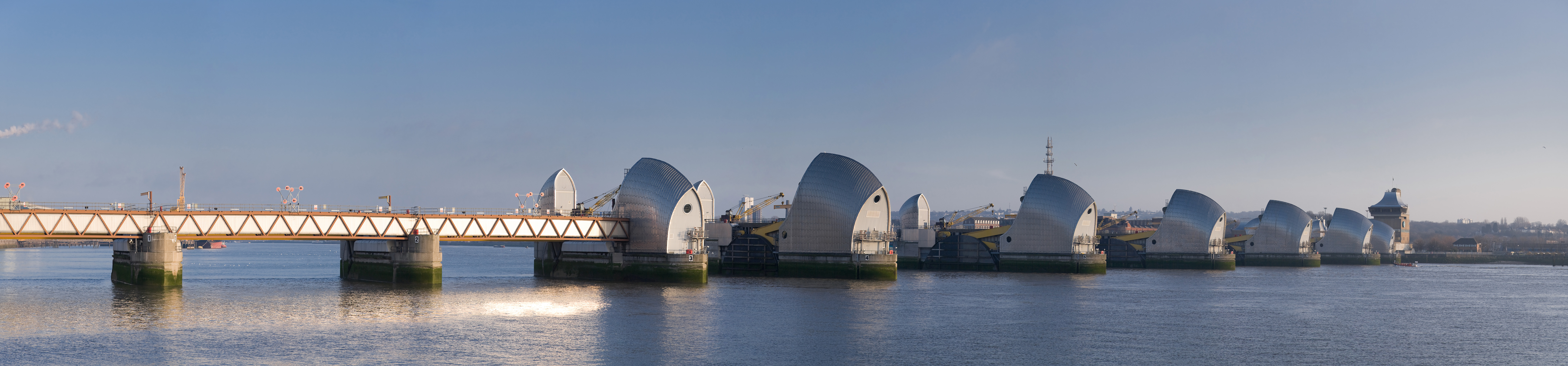 thames barrier flood control The thames barrier is a flood control structure on the river thames at woolwich reach in london it is the world's largest movable flood barrier[] built across a.